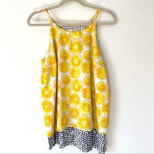 Porridge Anthropologie Lemon Tank Size Medium